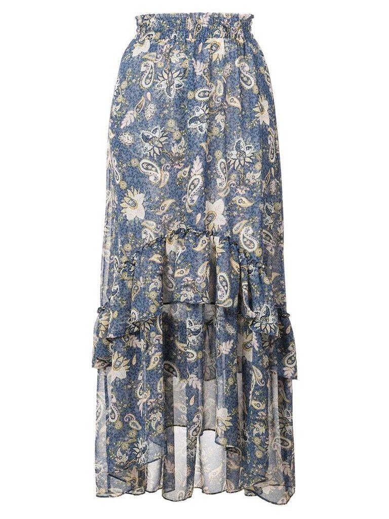 Misa Los Angeles paisley print midi skirt - Blue