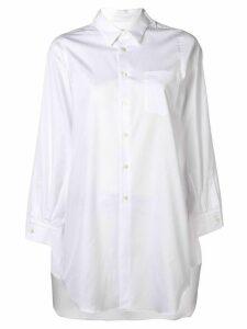 Comme Des Garçons long sleeve button-up blouse - White