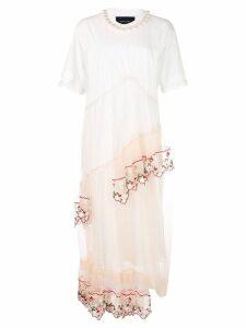 Simone Rocha tulle overlay T-shirt dress - White