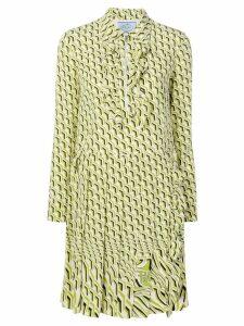 Prada printed shift dress - Green