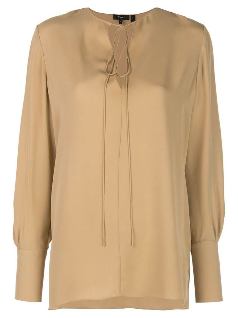 Theory tie fastening blouse - Neutrals