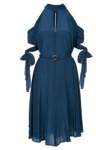 Taylor tie sleeved dress - Blue