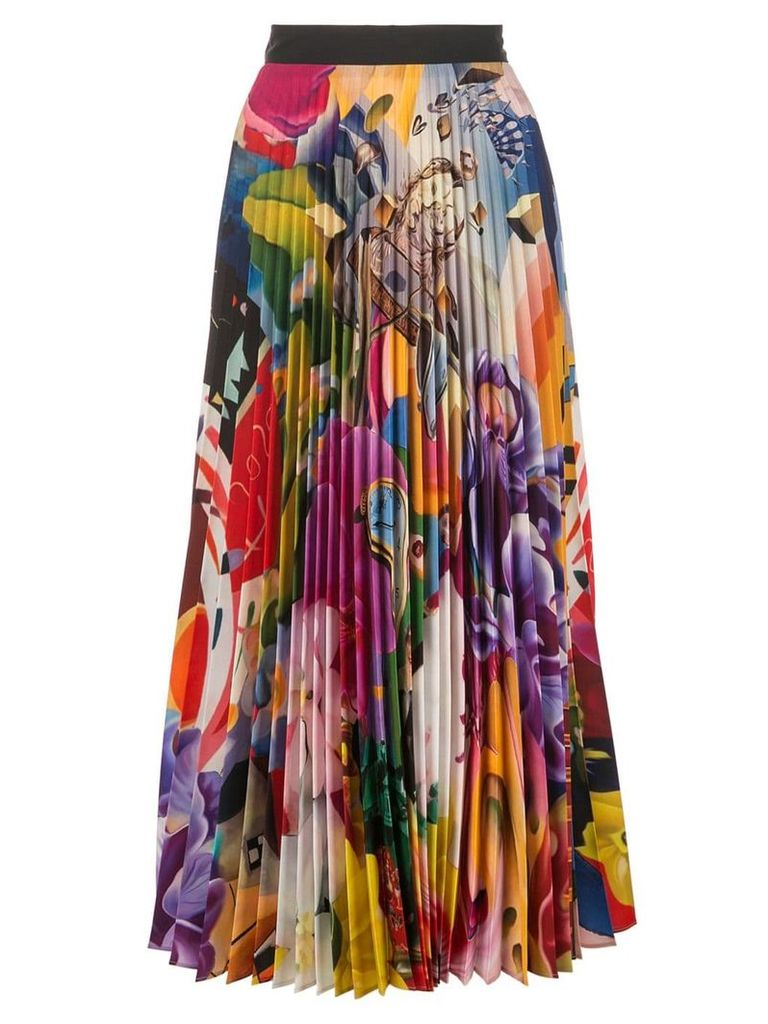 Mary Katrantzou pleated midi skirt - Multicolour