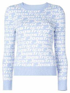 JoosTricot logo knit top - Blue