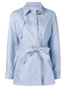 Fay belted parka coat - Blue
