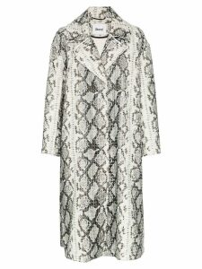Stand Tasia python print coat - Grey