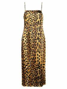 Adam Lippes leopard cami dress - Multicolour