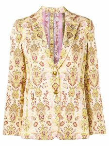 Etro paisley jacquard blazer - Neutrals