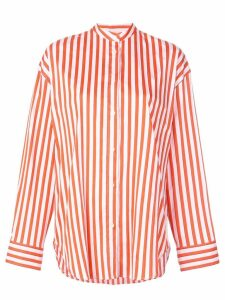 MSGM striped button shirt - Orange