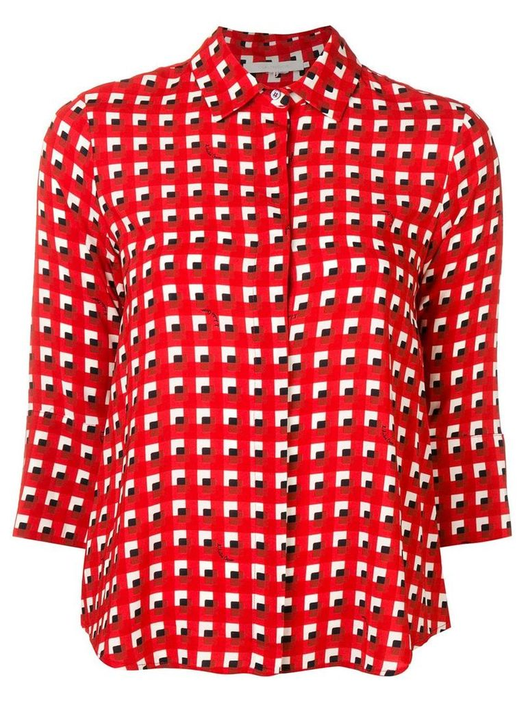 L'Autre Chose cropped sleeve blouse - Red