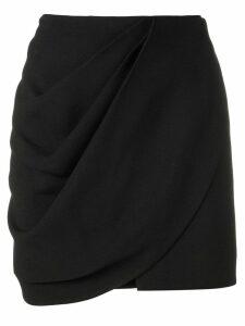Saint Laurent mini wrap skirt - Black