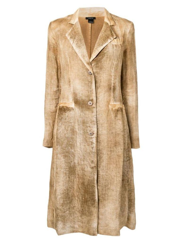 Avant Toi single-breasted midi coat - Brown