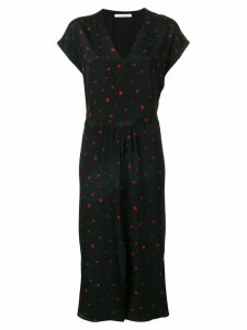 Chinti & Parker strawberry print midi dress - Black