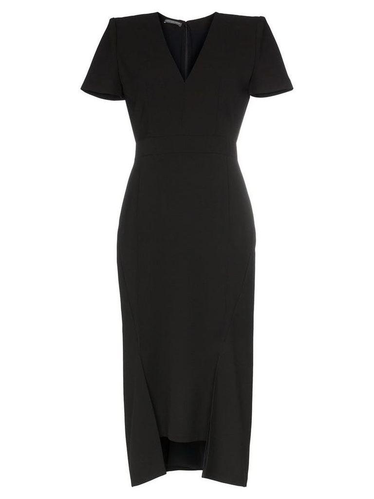 Alexander McQueen Step hem midi-dress - Black