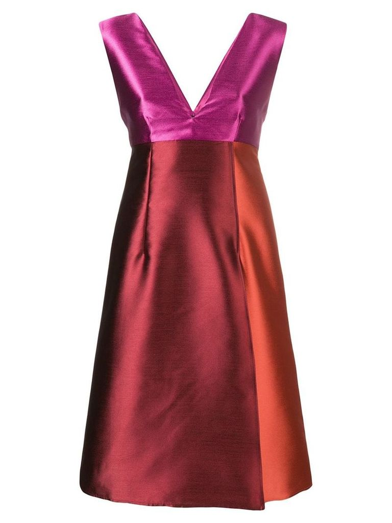 Gianluca Capannolo sleeveless patchwork dress - Red