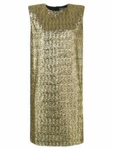Gianluca Capannolo sequinned cocktail dress - Gold