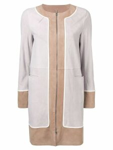Herno contrast panels coat - Neutrals