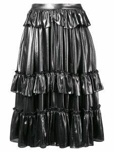 Alexa Chung metallic ruffle skirt - Silver