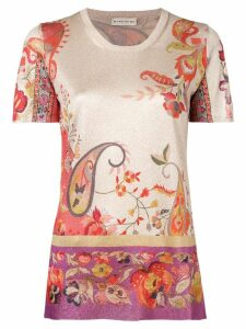 Etro paisley print lurex knit top - Neutrals
