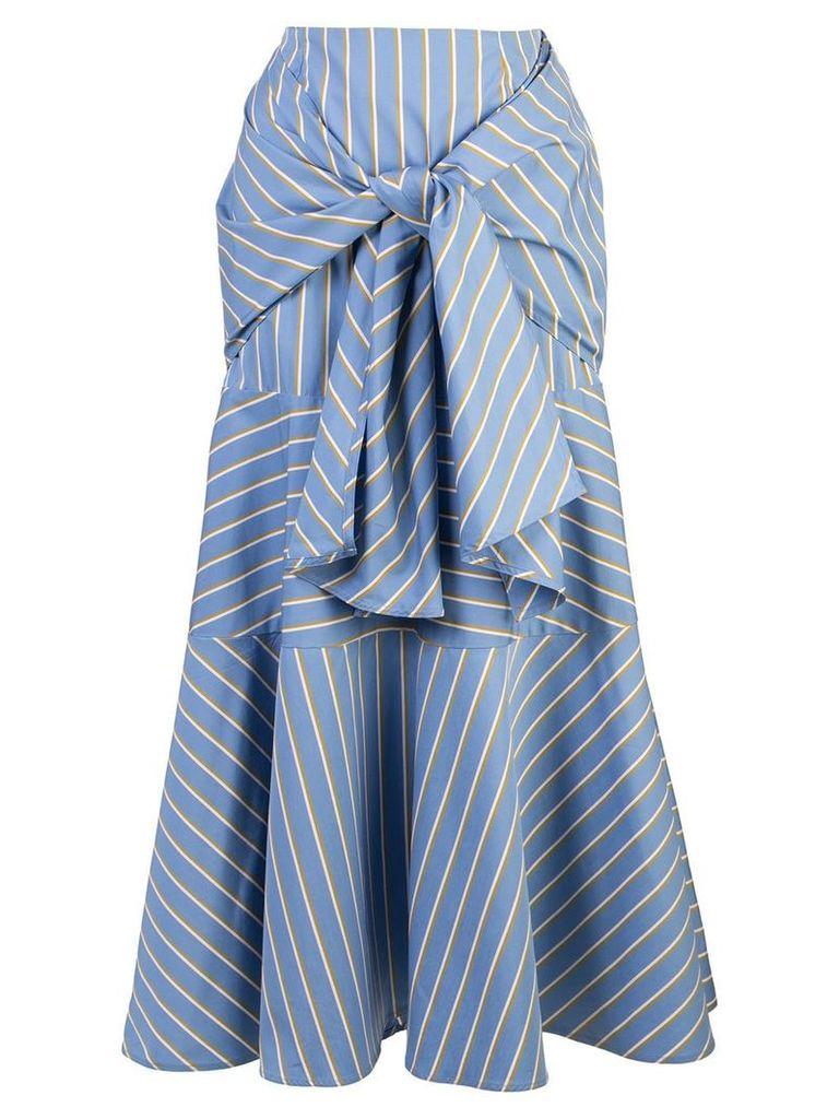 Silvia Tcherassi striped midi skirt - Blue