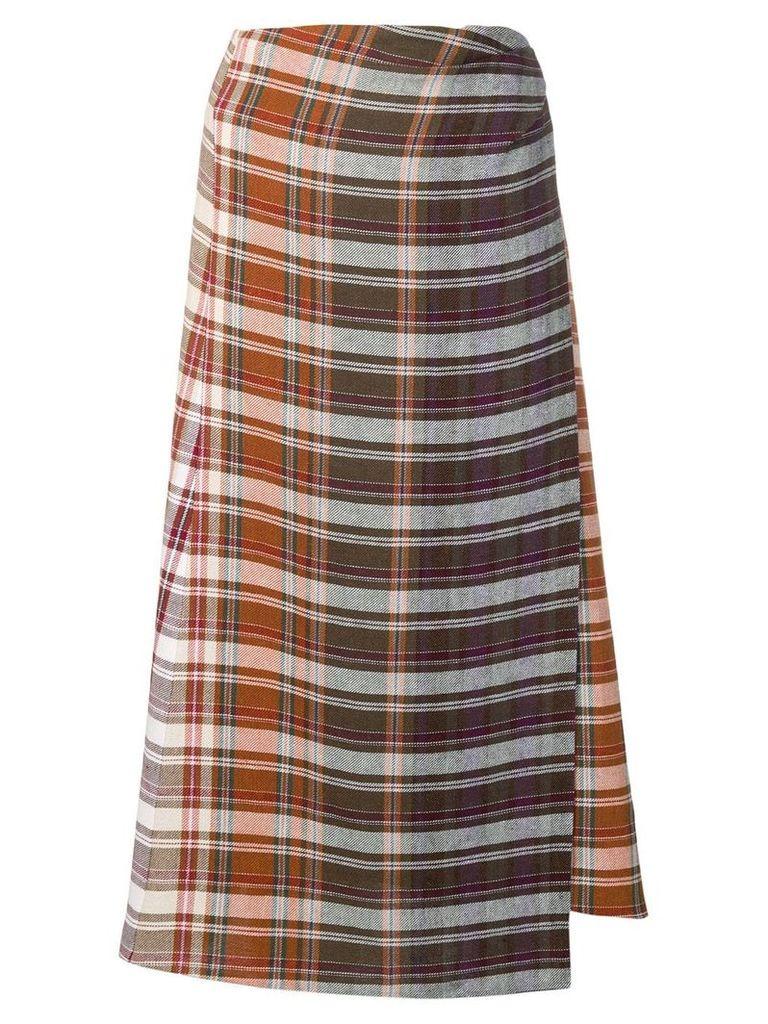 Etro plaid wrap skirt - Neutrals