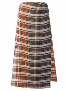 Etro plaid wrap skirt - Neutrals