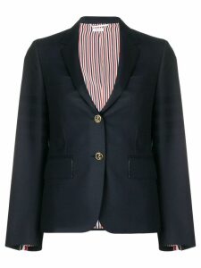 Thom Browne Sateen 4-Bar Narrow Sport Coat - Blue