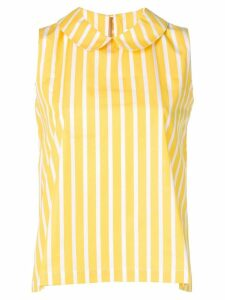 Société Anonyme striped sleeveless top - Yellow