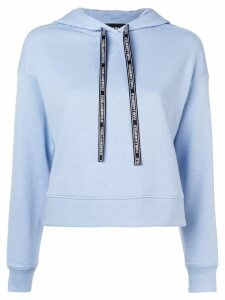 Karl Lagerfeld contrast back hoodie - Blue