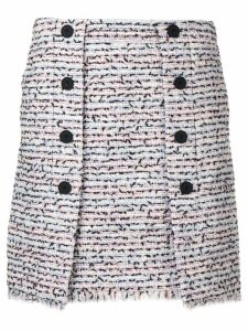 Karl Lagerfeld bouclé skirt - Blue