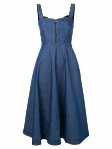 Karl Lagerfeld flared denim dress - Blue