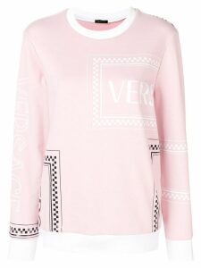 Versace logo mix print sweatshirt - A2242