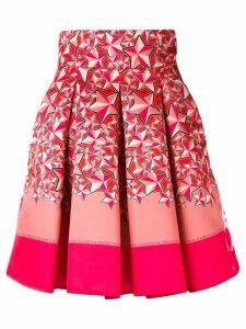 Elisabetta Franchi star print skirt - Red