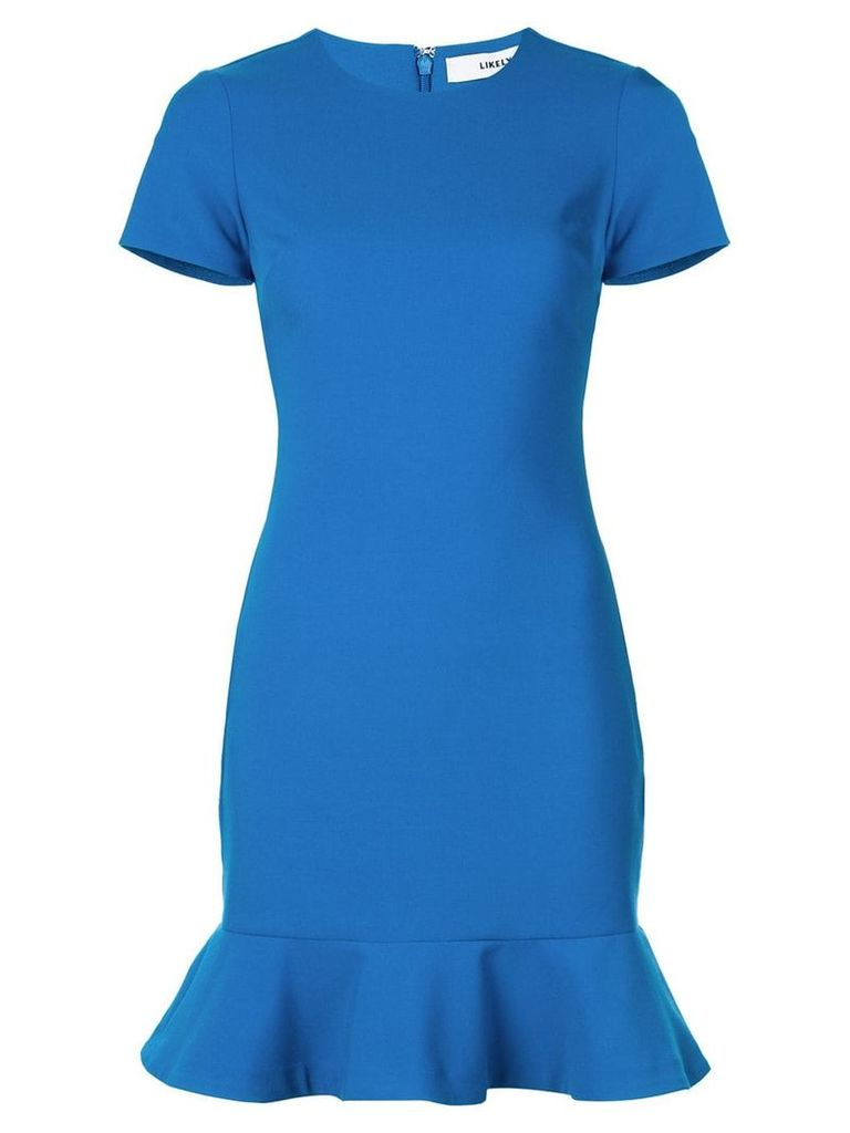 Likely peplum hem mini dress - Blue