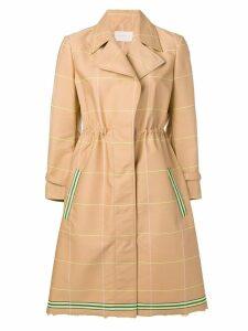 L'Autre Chose check trench coat - Neutrals
