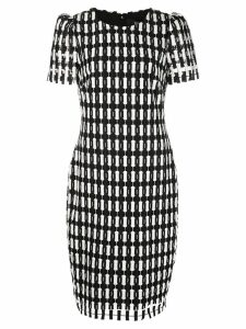 Badgley Mischka check patterned dress - Black