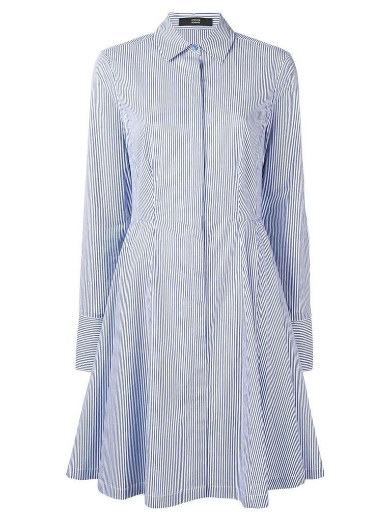Steffen Schraut pinstripe shirt dress - Blue