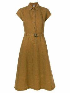 Aspesi belted shirt dress - Brown