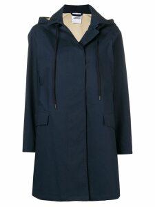 Aspesi classic hooded coat - Blue