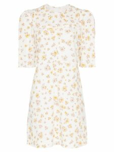 See By Chloé floral print poof sleeve cotton mini dress - White