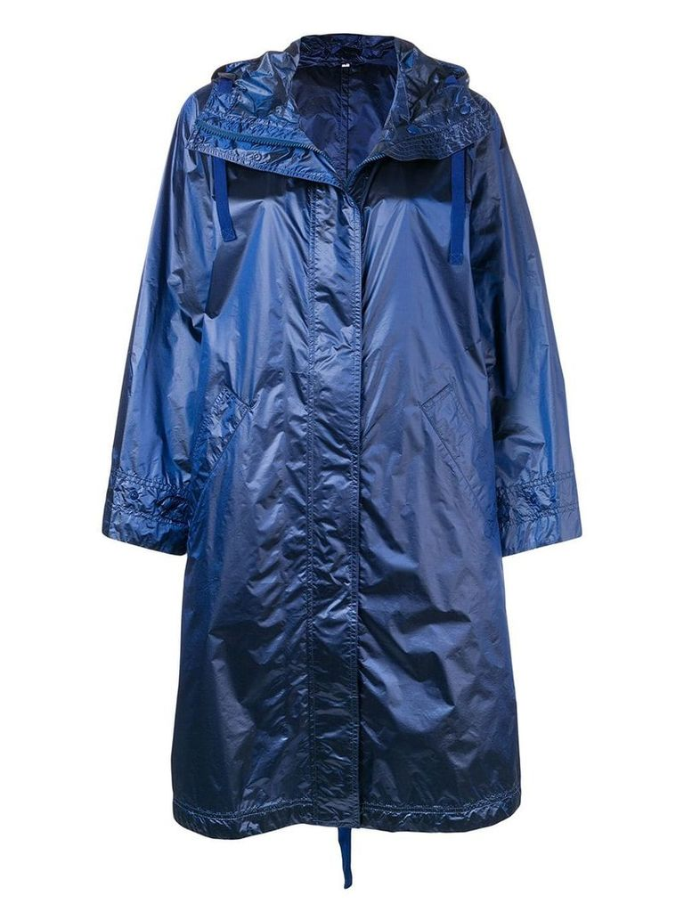 Aspesi concealed front coat - Blue