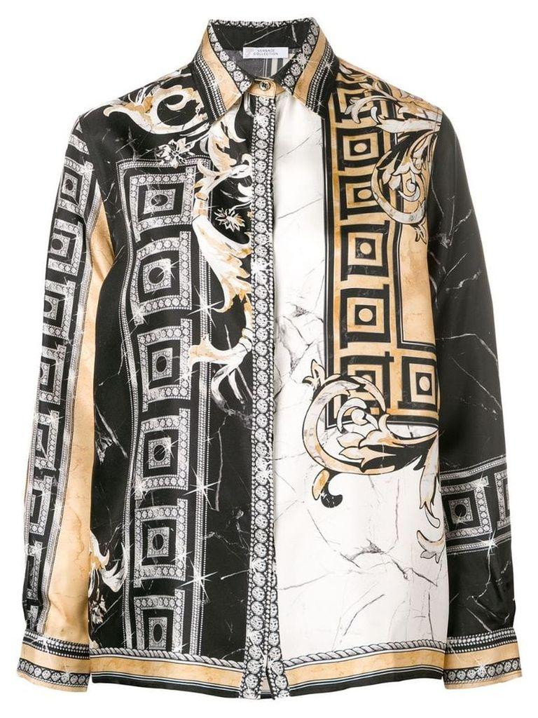 Versace Collection mixed print shirt - Black