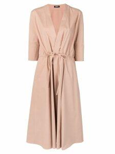 Jil Sander Navy tie waist dress - Brown
