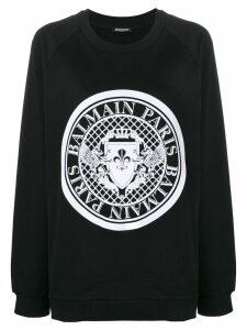 Balmain logo stamp sweatshirt - Black