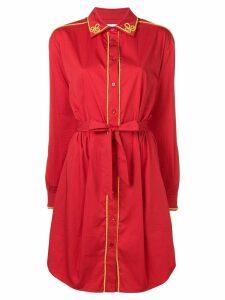 Moschino long sleeve shirt dress - Red