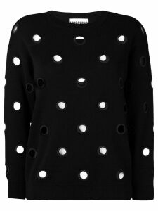 Moschino eyelet detail sweater - Black