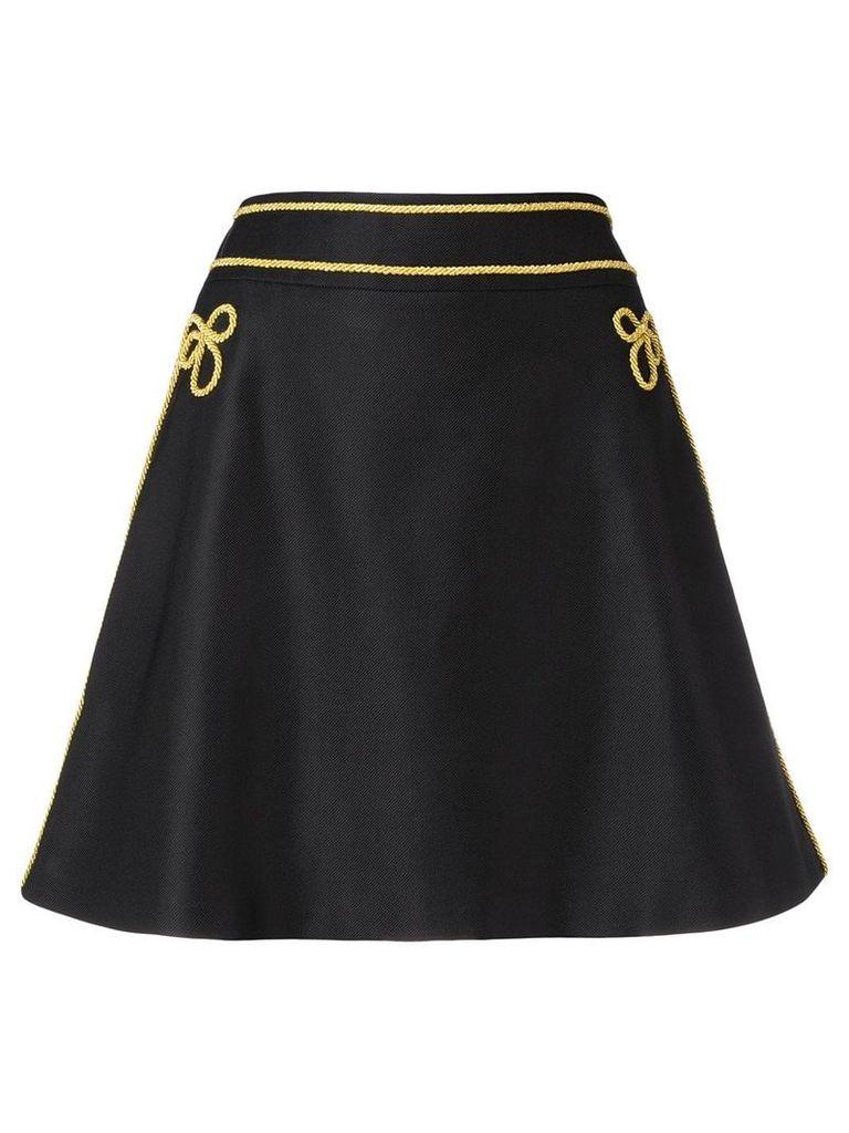 Moschino embroidered mini dress - Black