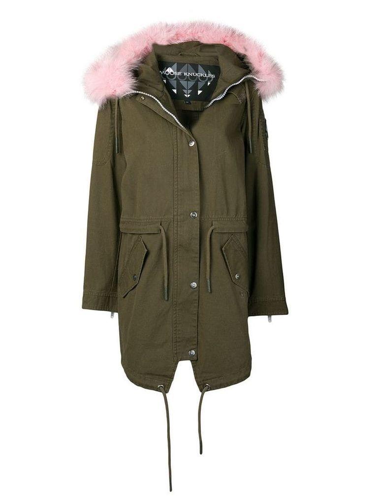 Moose Knuckles fur trim hooded parka coat - Green