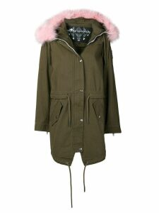 Moose Knuckles fur trim hooded parka coat - Green