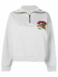 Kenzo Flying Tiger embroidered sweatshirt - Grey